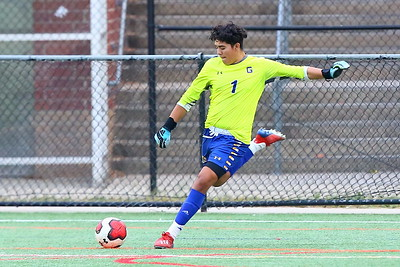 George P. Smith/The Montgomery Sentinel    Gaithersburg goalie Jonathan Lovo (1).