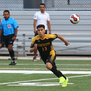 George P. Smith/The Montgomery Sentinel    Richard Montgomery's Dany Romero (13) scored the only goal of the game.