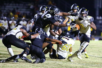 George P. Smith/The Montgomery Sentinel    Richard Montgomery's T'Kai Ayoola (9) cuts away from Northwest pressure.