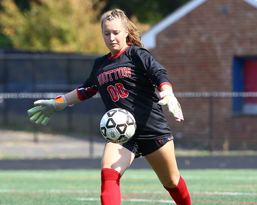 George P. Smith/The Montgomery Sentinel    Wootton goalie Sarah Levine (00) clears the ball.