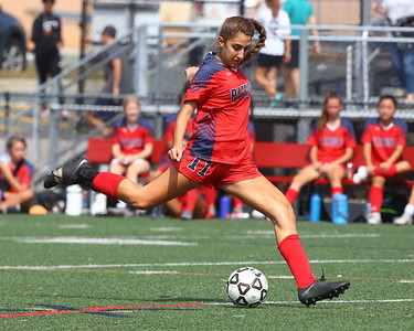 George P. Smith/The Montgomery Sentinel    Wootton's Natalie Matikyan (11) clearing the ball.