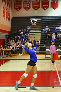 George P. Smith/The Montgomery Sentinel    Sherwood's Julia Savelson (15) serving against Blair.