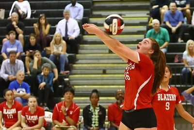 George P. Smith/The Montgomery Sentinel    Blair's Olivia Freer (16) returning a ball against Sherwood.