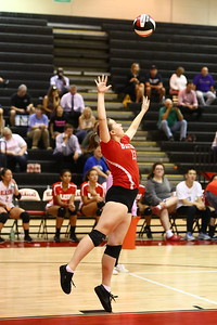 George P. Smith/The Montgomery Sentinel    Blair's Svetlana Semenova (13) serving against Sherwood.