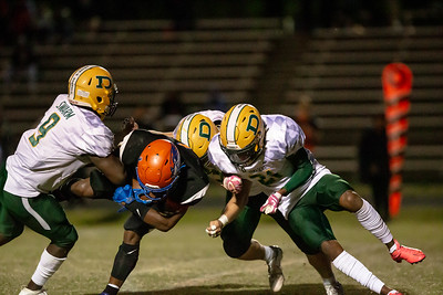 October 11, 2019 - The Damascus Hornet defense shutdown host Watkins Mill until the game was well out of reach. Damascus took a 35-0 halftime lead to a 49-14 win. Photo by Mike Clark/The Montgomery Sentinel