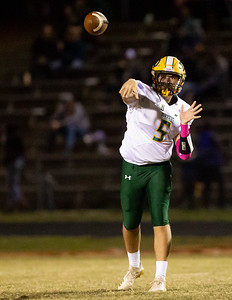 October 11, 2019 - Quarterback Michael O'Neil has a big game for Damascus; putting up 35 unanswered points in the first half against the Watkins Mill Wolverines. Photo by Mike Clark/The Montgomery Sentinel