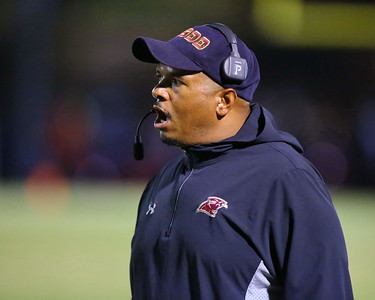 George P. Smith/The Montgomery Sentinel    Paint Branch head coach Mike Nesmith can't believe a call by the officials.