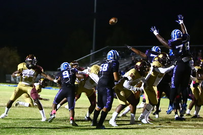 George P. Smith/The Montgomery Sentinel    Blake's linemen make a great eefort to try and block a Paint Branch PAT.