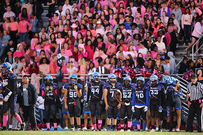 George P. Smith/The Montgomery Sentinel    The Blake student section was emblazoned in pink for breast cancer awareness.