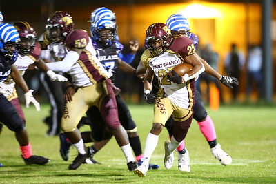 George P. Smith/The Montgomery Sentinel    Paint Branch's Khalili Radway (25) gets past the Blake defense.