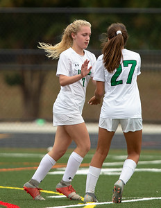 October 12, 2019 - Emily Crites runs the score to 2-0 in the closing minutes of the Walter Johnson win over host Wheaton. Photo by Mike Clark/The Montgomery Sentinel