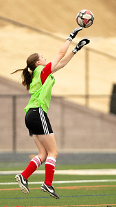 October 12, 2019 - Wheaton Goalkeeper Marianna Moreau gets another save in a loss to the Walter Johnson Wildcata. Photo by Mike Clark/The Montgomery Sentinel