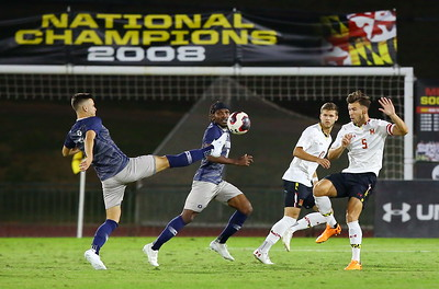 George P. Smith/The Montgomery Sentinel    The 2008 Mens National Soccer Champions, the Maryland Terrapins took on Georgetown at Ludwig Field on Monday, October 14, 2019.