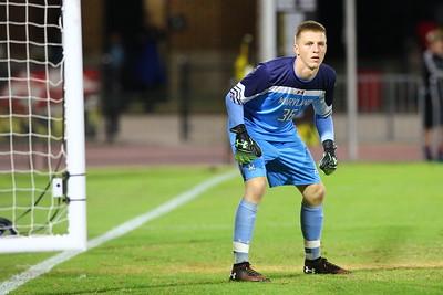 George P. Smith/The Montgomery Sentinel    Maryland goalie Niklas Neumann (36).