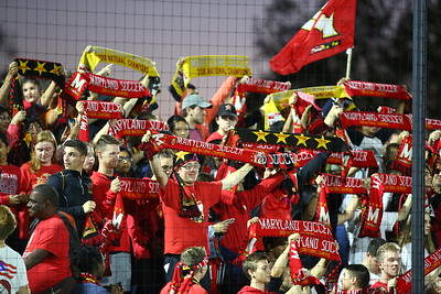 George P. Smith/The Montgomery Sentinel    Maryland fans behind the Georgetown goal.