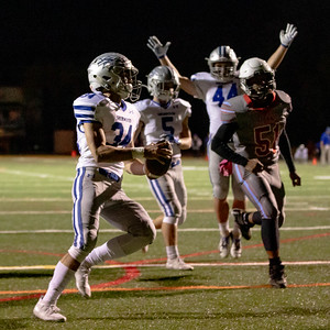 October 18, 2019 - Running Back Dylan Grant gets another Sherwood touchdown in the 41-0 rout of Einstein. Photo by Mike Clark, The Montgomery Sentinel