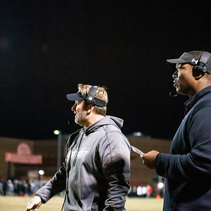 October 25, 2019 - Northwest High School's new Offensive Coordinator and former Redskin Chris Samuels watches as his offense struggles to point up points against the second ranked Quince Orchard Cougars. Photo by Mike Clark/The Montgomery Sentinel