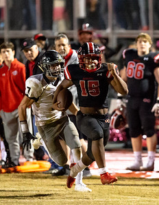 October 25, 2019 - Marquez Cooper rambles for 161 yards and two touchdowns to defeat rival Northwest and move to 8-0 on the season. Photo by Mike Clark/The Montgomery Sentinel