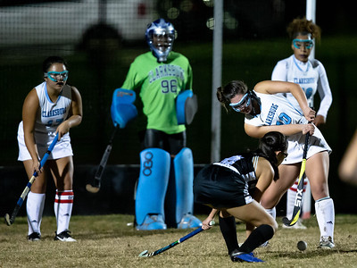 October 28, 2019 - Clarksburg's Abby Marshall clears the ball from the Coyote zone in the 1-0 win over Northwest. Photo by Mike Clark/The Montgomery Sentinel