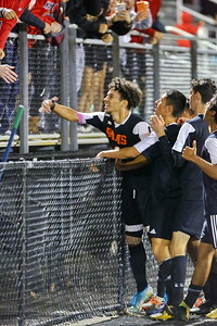 George P. Smith/The Montgomery Sentinel    Rockville's Felix Rivera (10) celebrates scoring the Ram's 2nd goal.
