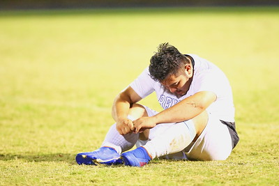 George P. Smith/The Montgomery Sentinel    The agony of defeat after a long season - Blake's Nestor Mendez collects himself after losing to Rockville 2-1.