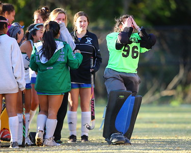 George P. Smith/The Montgomery Sentinel    Churchill goalie Allison Jacobs (96) is distraught after her team lost to Old Mill by a score of 1-0.