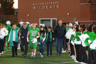 George P. Smith/The Montgomery Sentinel    Senior night at Walter Johnson High School - Hunter Belisle (66) and his family.