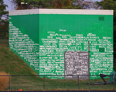 George P. Smith/The Montgomery Sentinel    2020 senior class wall at Walter Johnson.