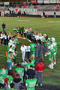 George P. Smith/The Montgomery Sentinel    Walter Johnson quarterback Josh Forberger (11) with his family on Senior Night.