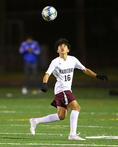George P. Smith/The Montgomery Sentinel    Bladensburg's Dylan Portillo (16) waits for the ball to settle.