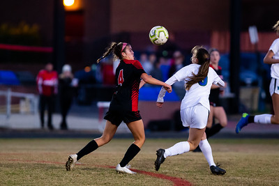 November 2, 2019 - Qunice Orchard's Guiliana Capraro advances the ball into the Churchill zone. The Churchill defense limited QO to only a single goal as they fall 2-1. Photo by Mike Clark/The Montgomery Sentinel