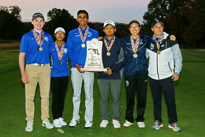 George P. Smith/The Montgomery Sentinel    Winston Churchill High School finished 1s in the 3A/4A team standings of the 2019 MPSSAA Golf Championships played at the University of Maryland Golf Course in College Park, MD.Park,