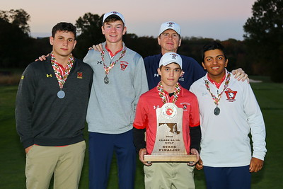 George P. Smith/The Montgomery Sentinel    Thomas S. Wootton High School tied for 2d with Urbana in the 3A/4A team standings of  the 2019 MPSSAA Golf Championships played at the University of Maryland Golf Course in College Park,