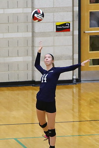 George P. Smith/The Montgomery Sentinel    Magruder's Sarah Schaupp (14) serving against Bel Air.