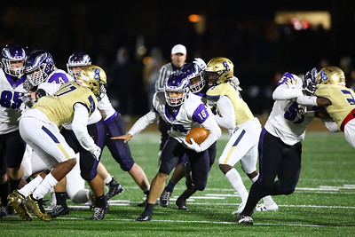 George P. Smith/The Montgomery Sentinel    Gonzaga's quarterback Caleb Williams (18) pops through a gap on a keeper.