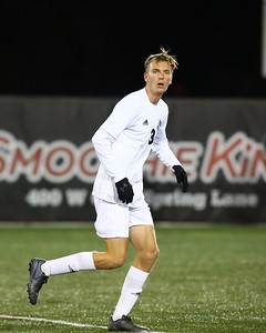 George P. Smith/The Montgomery Sentinel    Walt Whitman's Abe Hoogeveen (3) following the action during the State 4A Boys Soccer Championship.