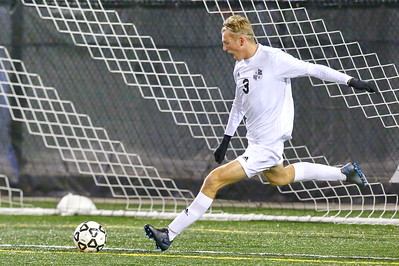 George P. Smith/The Montgomery Sentinel    Walt Whitman's Abe Hoogeveen (3) with the goal kick.