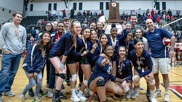 November 16, 2019 - Montgomery County's Magruder High School is the new 3A state champions after defeating Northern High School in 4 sets. Photo by Mike Clark/The Montgomery Sentinel