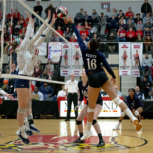 November 16, 2019 - Maya Scott of the new Maryland 3A champions gently places this point over the outstretched arms of  the Northern defense. Photo by Mike Clark/The Montgomery Sentinel
