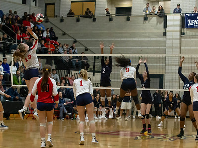November 16, 2019 - Volleyball powerhouse and 19-0 Northern High School takes on  23-0 Magurder Colonels. Magruder takes the 3A championship in four sets. Photo by Mike Clark/The Montgomery Sentinel
