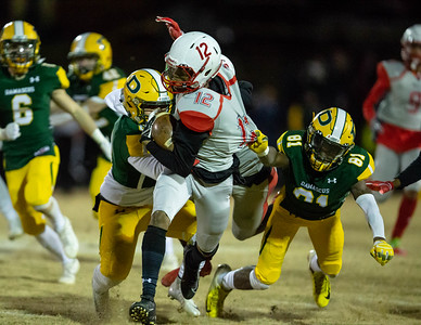 November 22, 2019 - Franklin's Dakari Copeland is chased down by the Damascus secondary. Franklin's offense could not get on track as Damascus moves on to the 3A semi-finals game. Photo by Mike Clark/The Montgomery Sentinel