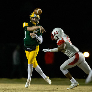 November 23, 2019 - Quarterback Michael O'Neil leads his Damascus Hornets to a 30-13 victory over playoff rival Franklin to advance to the 3A state semi-finals on November 29. Photo by Mike Clark/The Montgomery Sentinel