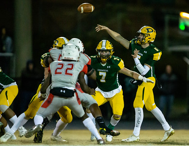 November 22, 2019 - Damascus Quarterback Michael O'Neil leads his Hornets into the 3A semifinals with a 30-13 win over playoff rival Franklin. Photo by Mike Clark/The Montgomery Sentinel