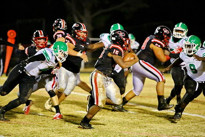 George P. Smith/The Montgomery Sentinel    Marquez Cooper (15) carrying for Quince Orchard.