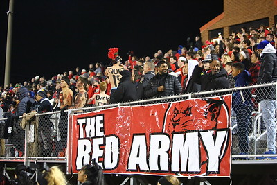 George P. Smith/The Montgomery Sentinel    The QO student section - the Red Army!