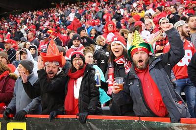 George P. Smith/The Montgomery Sentinel    Nebraska cornhusker fans.