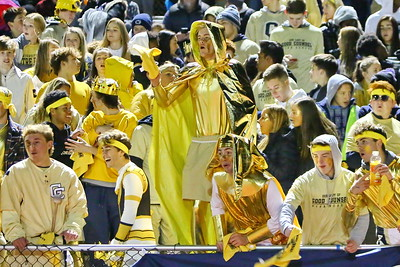 George P. Smith/The Montgomery Sentinel    Good Counsel fans in blue and (mostly) gold.
