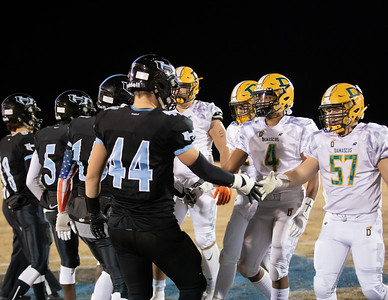 November 29, 2019 - Football powerhouse Damascus Hornets visits the undefeated Huntingtown Hurricanes in the 3A semi-finals. The Hornets advanced 21-14 and hope to take down Linganore for their 11th state championship. Photo by Mike Clark/The Montgomery Sentinel