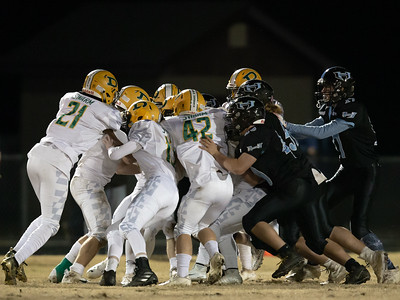 November 29, 2019 - Both Damascus and Huntingtown used gang tackling to keep the 3A semi-final game close until the final Damascus touchdown for the game-winning 21-14 touchdown. Photo by Mike Clark/The Montgomery Sentinel