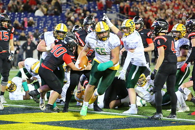 George P. Smith/The Montgomery Sentinel    As he did the week before, Damascus' Brian Bresee (55) (reprizing his role as full-back) punches it into the endzone on 3rd and short.